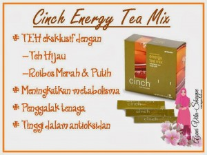 Khasiat Cinch Energy Tea Mix