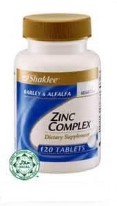 Zink untuk Set Pantang Shaklee