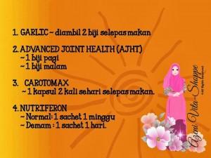 Jadual Pengambilan Vitamin Shaklee