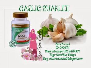 Kepentingan Garlic Shaklee