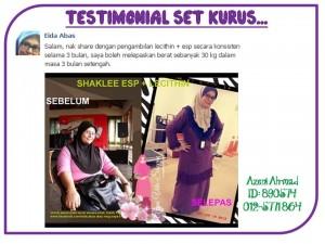 Testimonial Set Kurus Shaklee