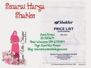 Senarai Harga Shaklee