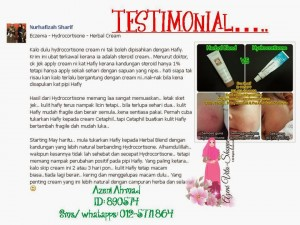 Testimonial Herbal Blend Cream Shaklee
