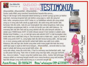 TESTIMONIAL ADVANCED JOINT HEALTH TABLET (AJHT)