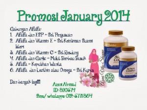 Promosi Januari - Alfalfa Shaklee