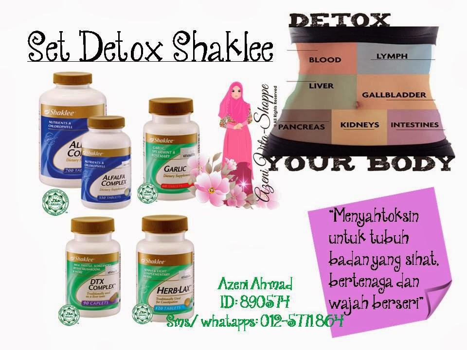 Set Detox Shaklee Dengan Alfalfa, Garlic, DTX Compleks dan Herb-Lax