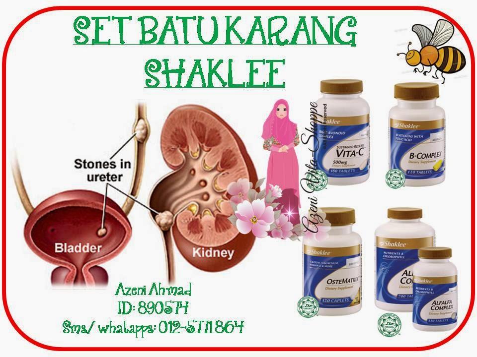 Set Batu Karang Shaklee terdiri daraipada Bcompleks, Alfalfa, Vitamin C, Ostematrix