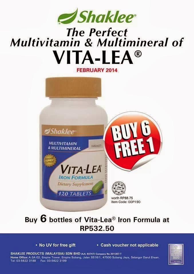 Promosi Februari 2014 – Vitalea Shaklee