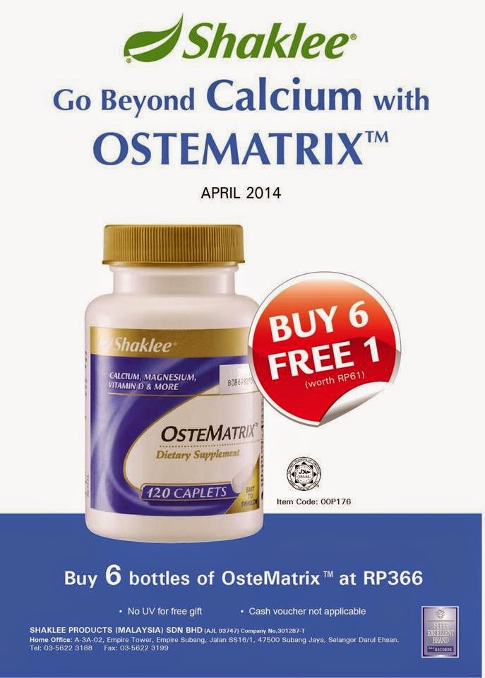 Promosi April 2014 - OSTEMATRIX Shaklee