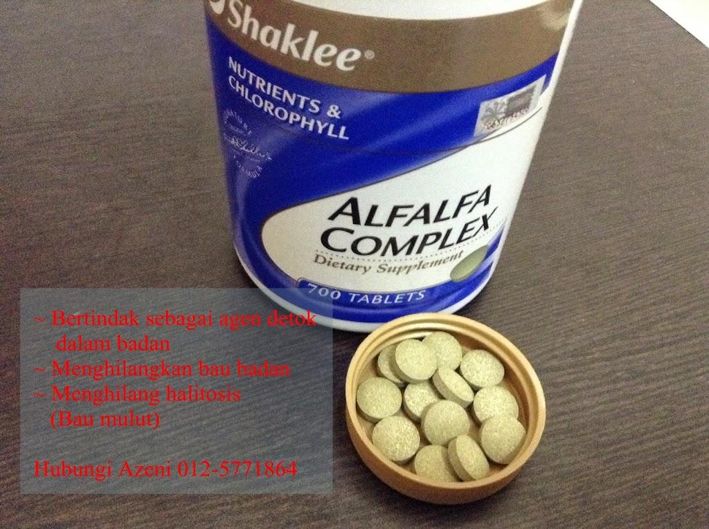 Alfalfa Shaklee Untuk Detok Dalam Badan