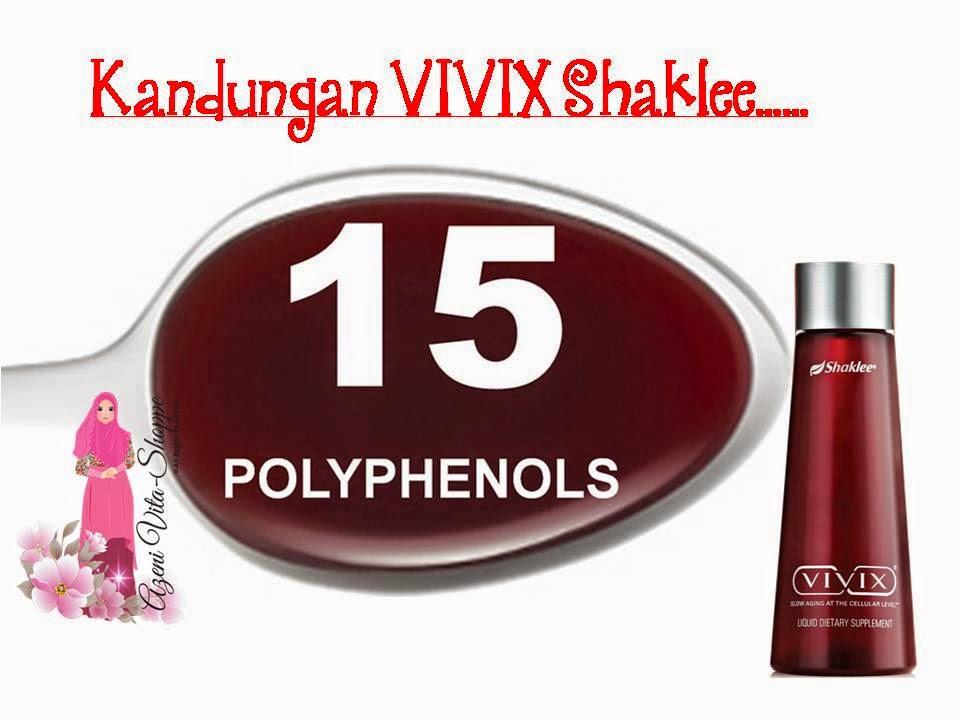 VIVIX mengandungi antioksida yang tinggi dan mampu neutralkan radikal bebas