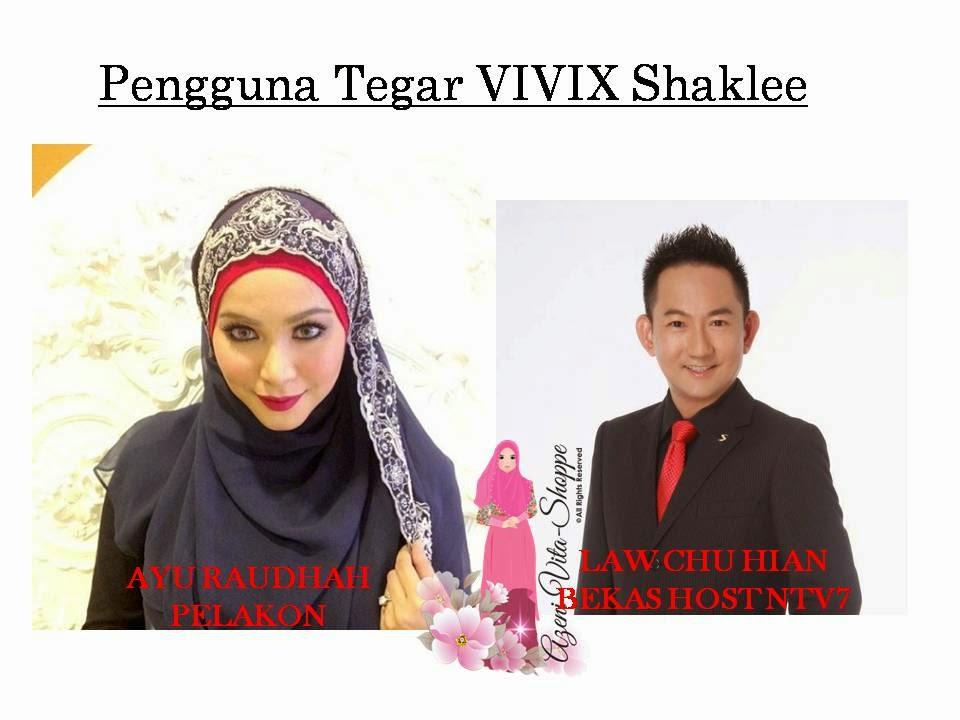 Ayu Raudhah dan Law Chu Hian Mengambil VIVIX untuk sihat