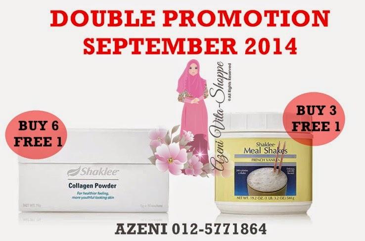 Promosi Berkembar September 2014 - Kolagen dan Mealshakes Shaklee