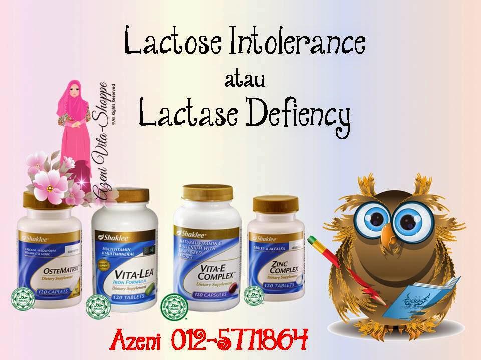 Alahan Pada Susu ataupun Kekurangan Laktosa (Lactose Intolerance atau Lactase Defiency)