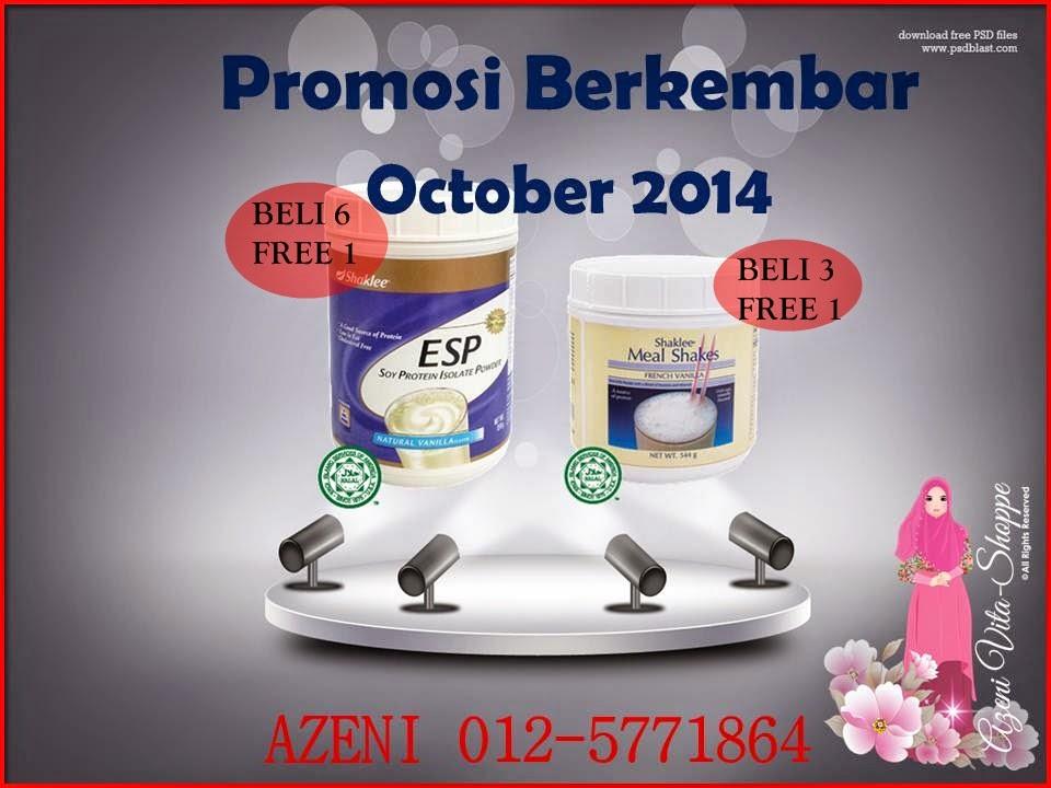 Double Promotion Bulan October 2014 - Untuk ESP dan Mealshakes Shaklee