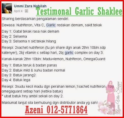 Garlic Shaklee Untuk Batuk