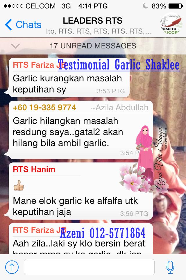 Garlic Shaklee Untuk Resdung