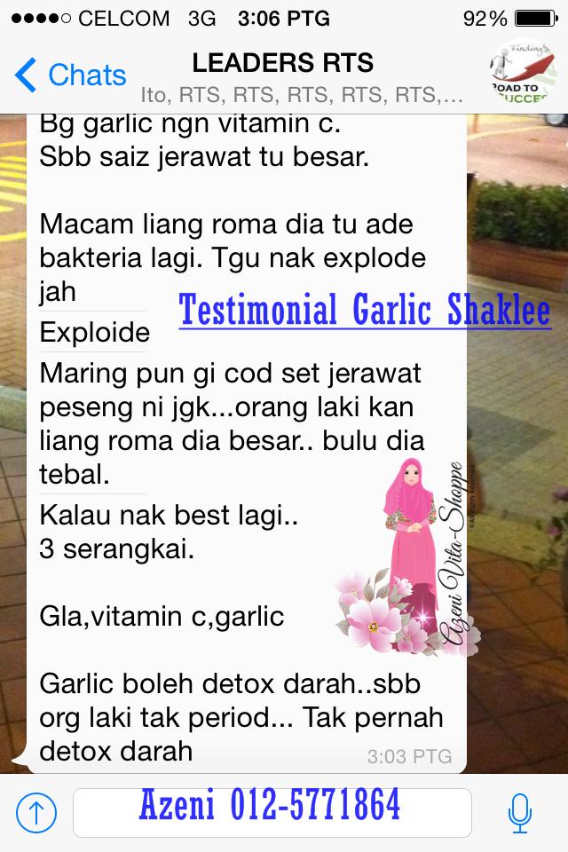 Garlic Shaklee Untuk Masalah Jerawat Teruk
