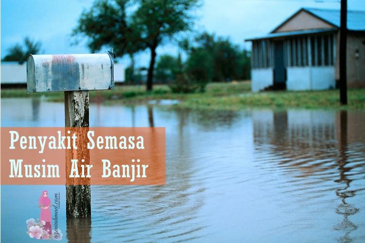Penyakit berjangkit semasa musim air banjir seperti taun, cirit birit, kencing tikus dan lemas