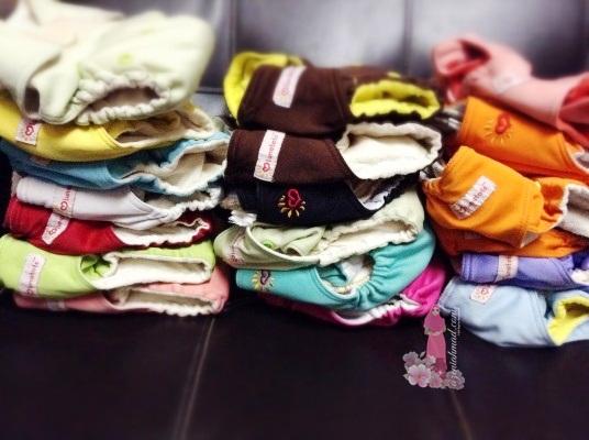 Cloth diaper Lunatots, lampin pakai basuh, cara berjimat untuk lampin,