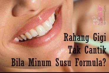 Rahang gigi cantik bila menyusu badan