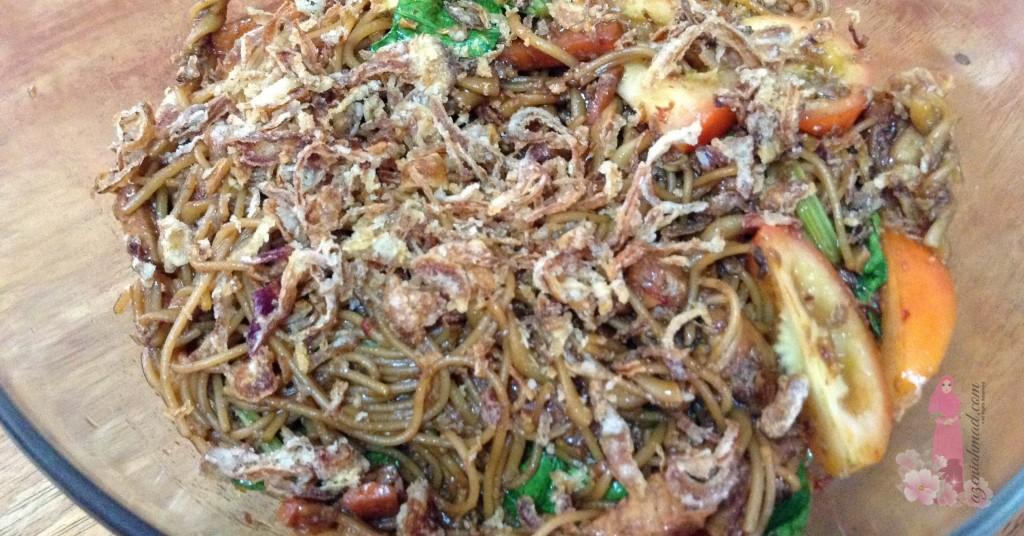Resipi spagetti goreng basah